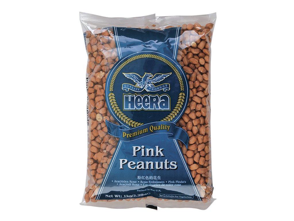 Arašídy růžové nepražené (Raw Pink Peanuts), HEERA 1kg