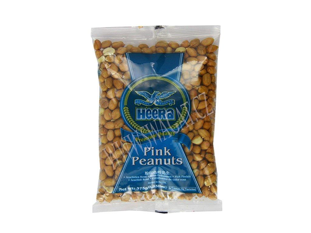 Arašídy růžové nepražené (Raw Pink Peanuts), HEERA 375g