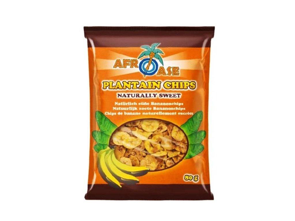 Banánové chipsy přirozeně sladké (Plantain Chips Naturally Sweet), 80g