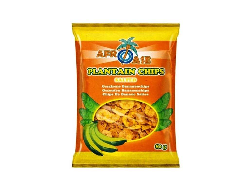 Banánové chipsy slané (Plantain Chips Salted), 80g