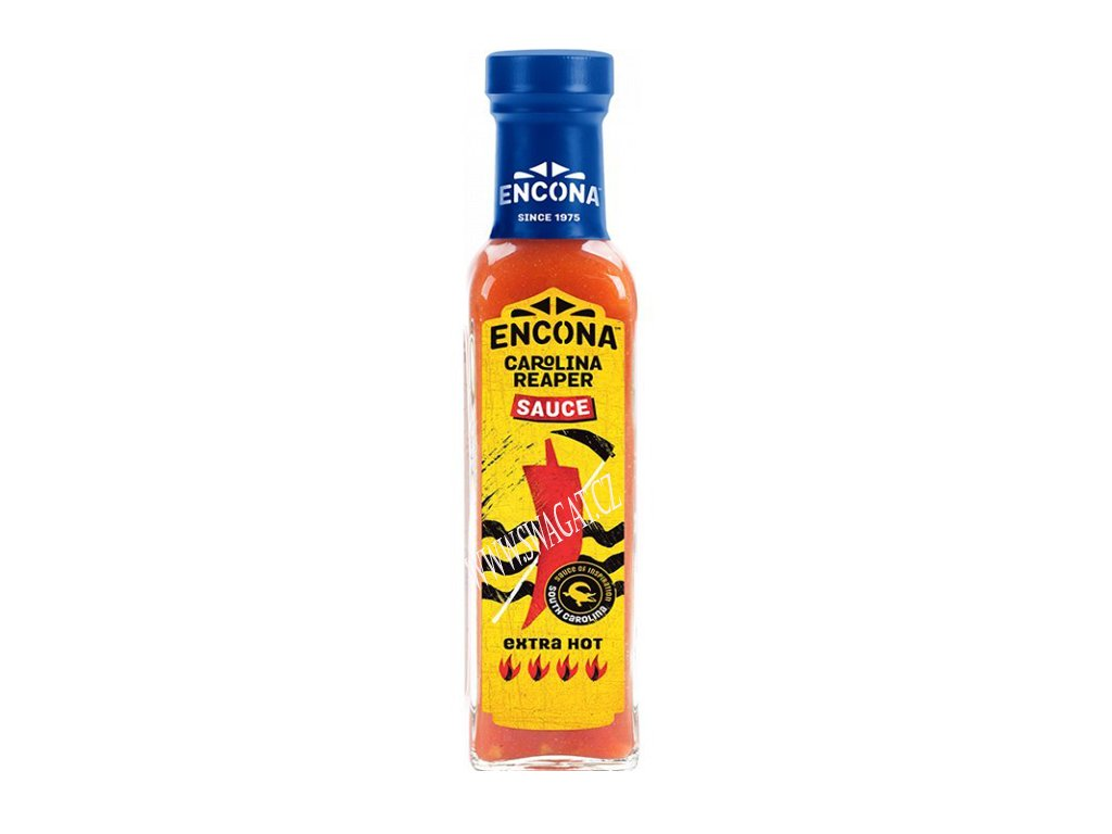 Extra pálivá Carolina Reaper chilli omáčka (Extra Hot Chilli Sauce), ENCONA 142ml