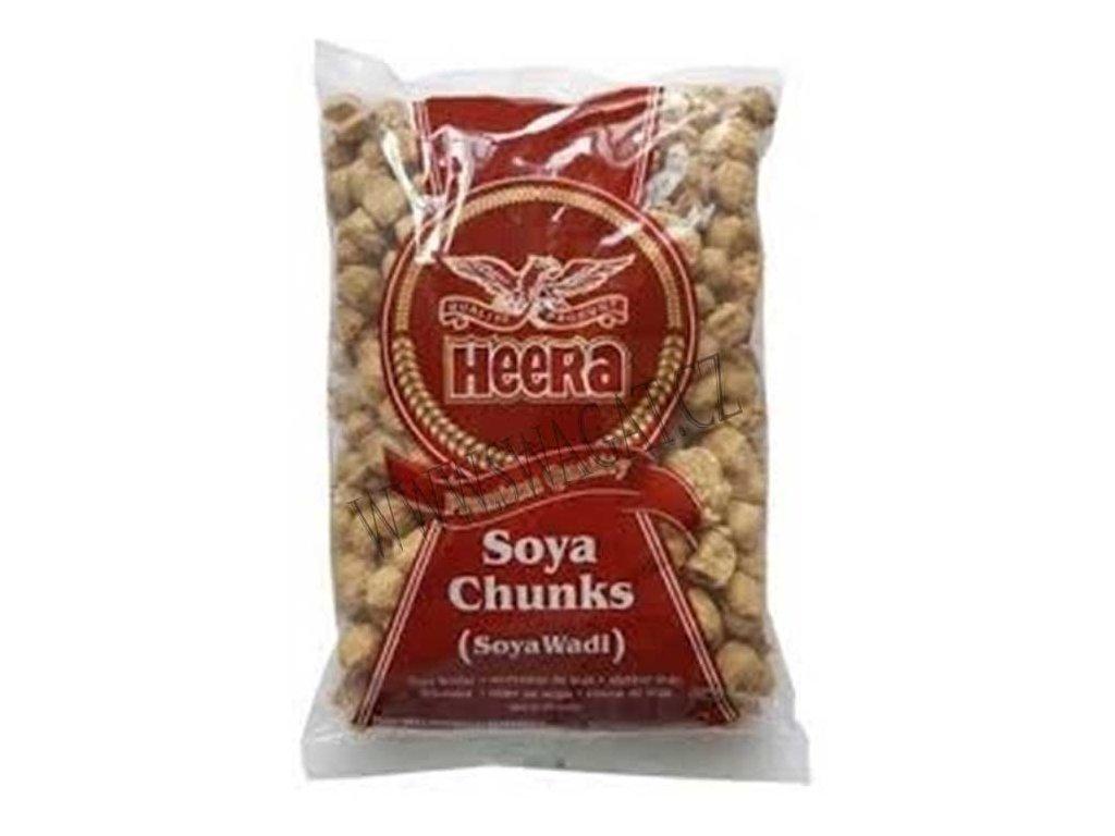 Sušené sójové kuličky (Soya Chunks), HEERA 500g