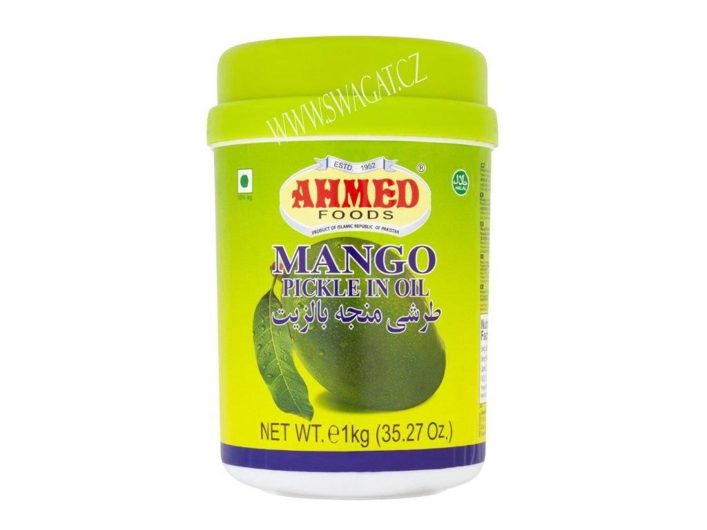 Nakládaný mango v oleji (Mango Pickle in Oil), AHMED FOODS 1kg