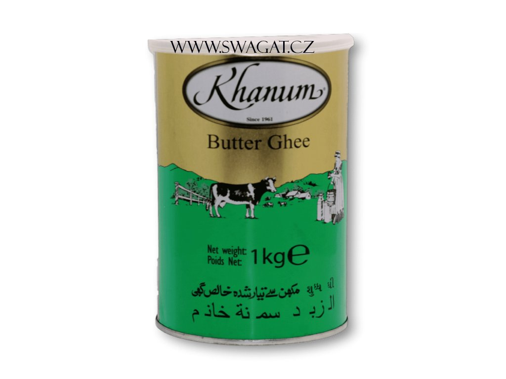 Máslo Ghí (Butter Ghee), KHANUM 1kg