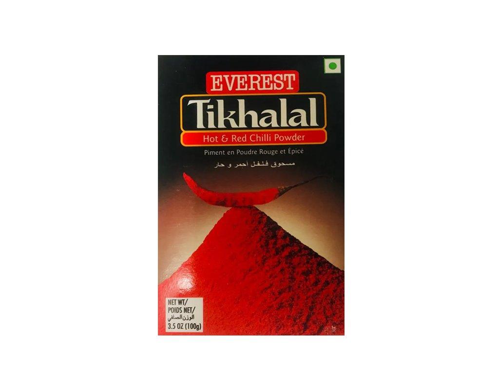 Tikhalal extra pálivý červený chilli mletý (Extra Hot Red Chilli Powder), EVEREST 100g