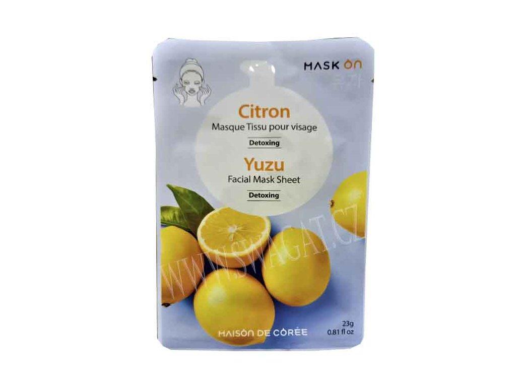 Detoxikační pleťová maska s citronem MAISON DE CÓREE 1ks