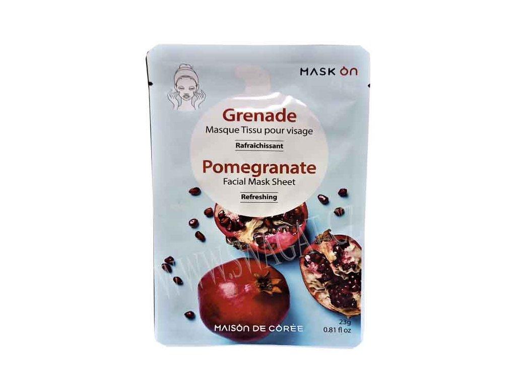 Osvěžující pleťová maska s extraktem z granátového jablka MAISON DE CÓREE 1ks