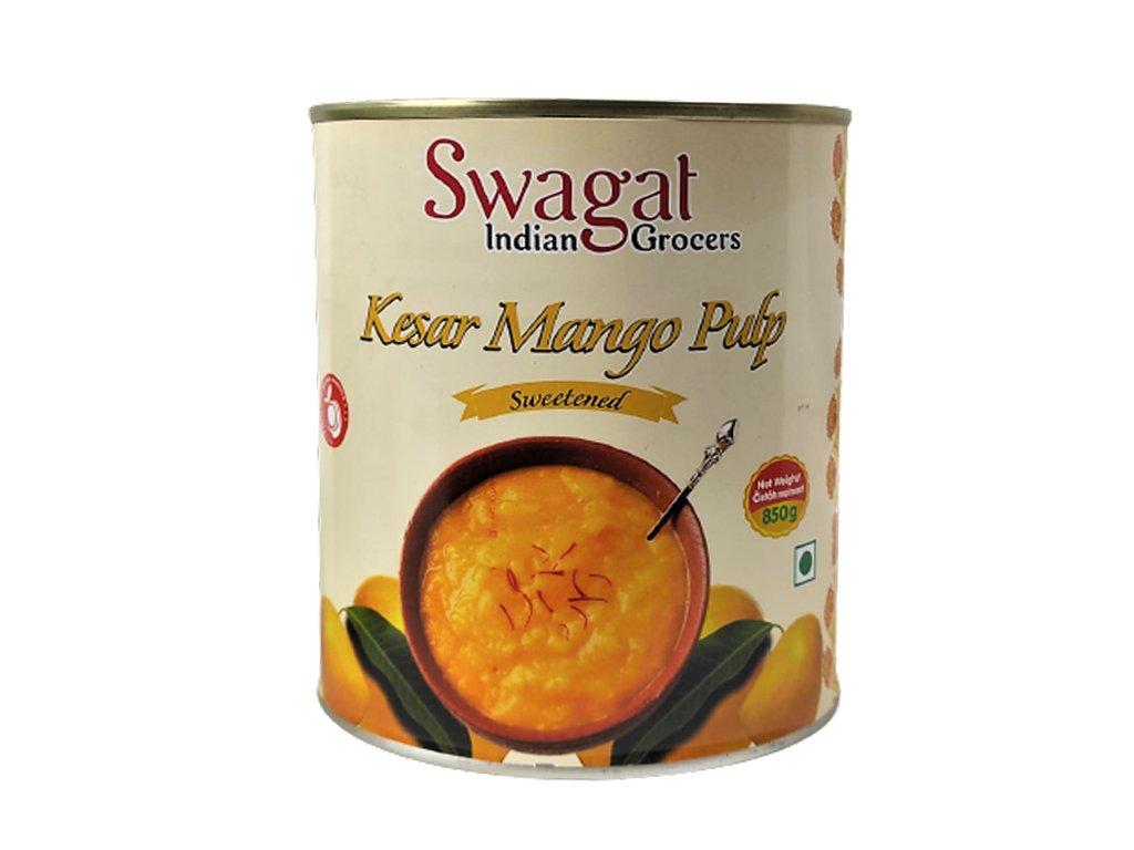 Kesar Mango pyré (Mango Pulp), SWAGAT 850g