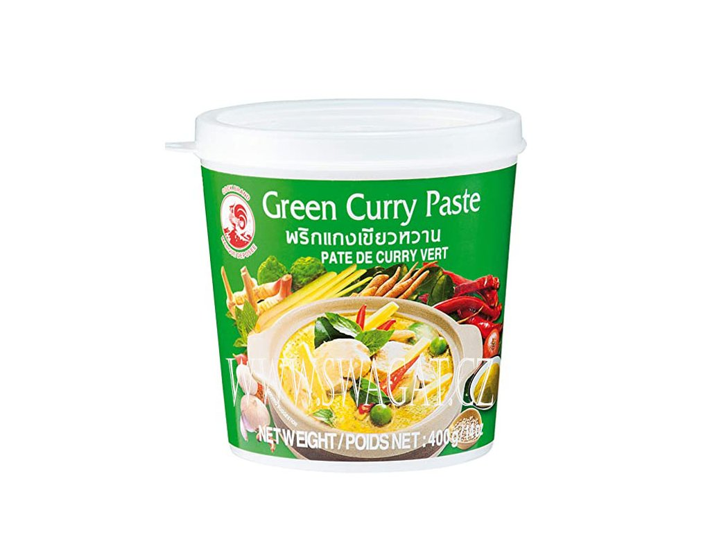 Zelená kari pasta (Green Curry Paste), COCK BRAND 400g