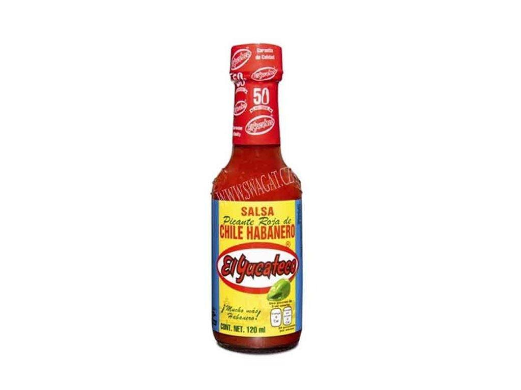 Salsa Picante Roja de Chilli Habanero, EL YUCATECO 120ml