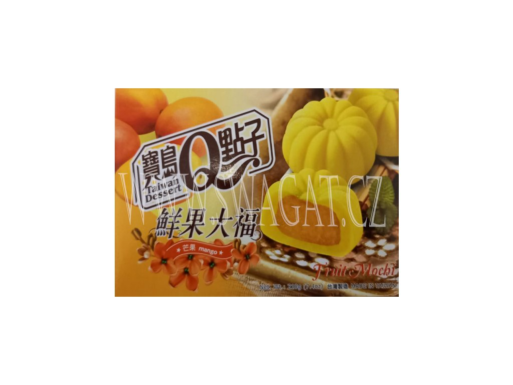 Japonské Mochi s příchutí manga (Mochi Mango), TAIWAN DESSERT 210g