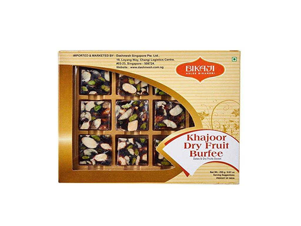 Khajoor Dry Fruit Burfee, BIKAJI 250g