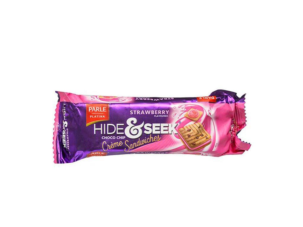 Hide&Seek čokoládové sušenky s jahodovou příchutí, PARLE 112g