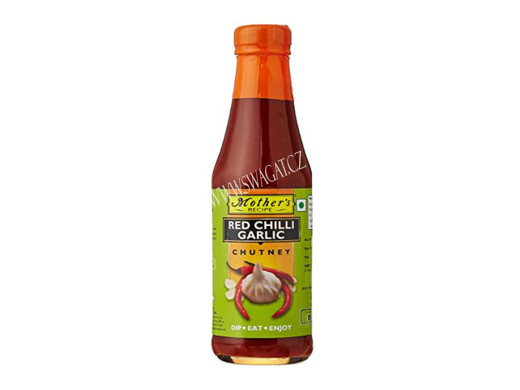 Chutney červený chilli a česnek (Red Chilli & Garlic Chutney), Mother`s Recipe 370g