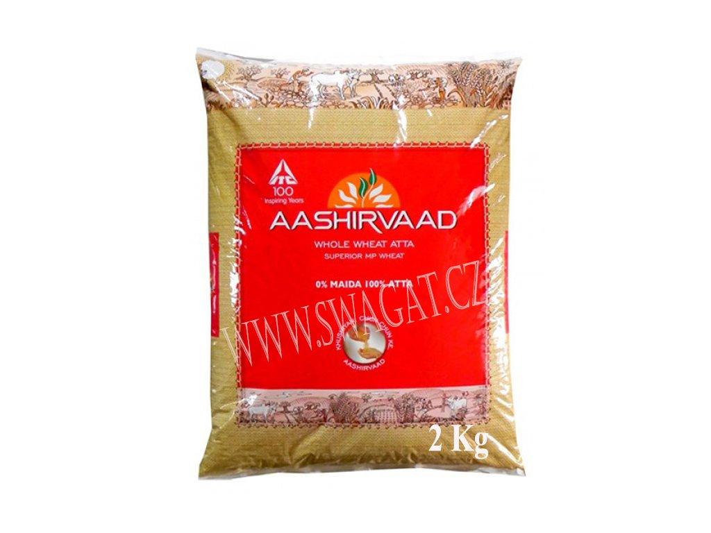 Atta-Celozrnná pšeničná mouka (Whole Wheat Flour), AASHIRVAAD 2kg