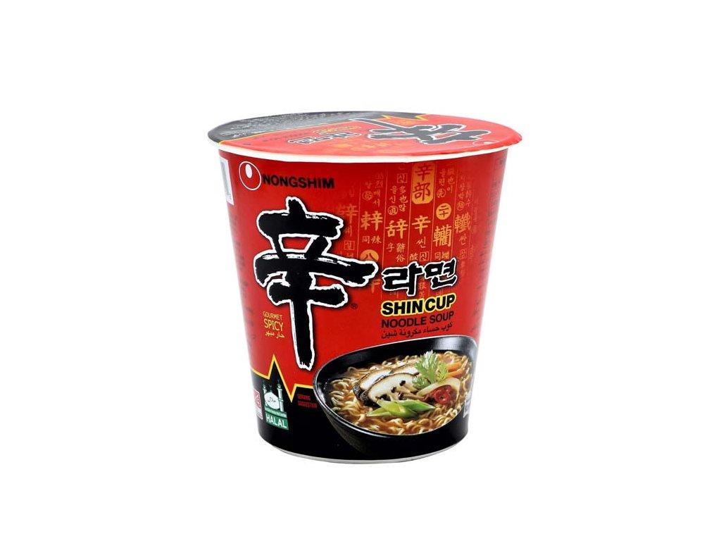 NONGSHIM  Instantní nudlová polévka Shin Cup ostrá, 68g