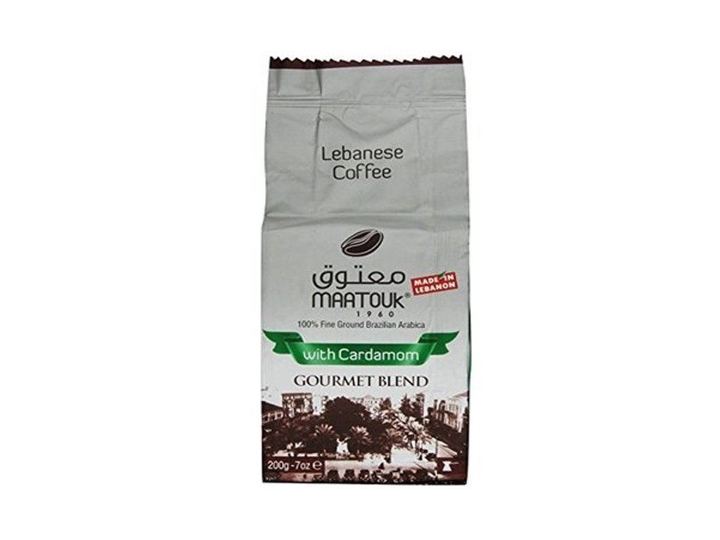 MAATOUK Arabica mletá káva s kardamomem, 200g