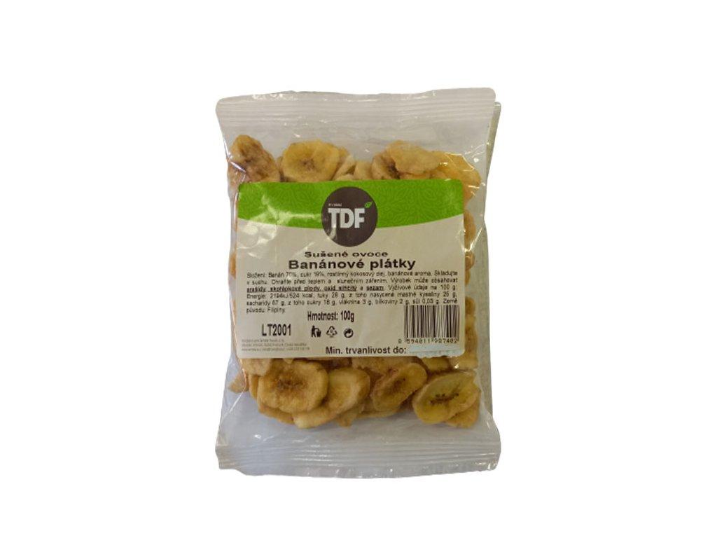 Banánové plátky, TDF 100g
