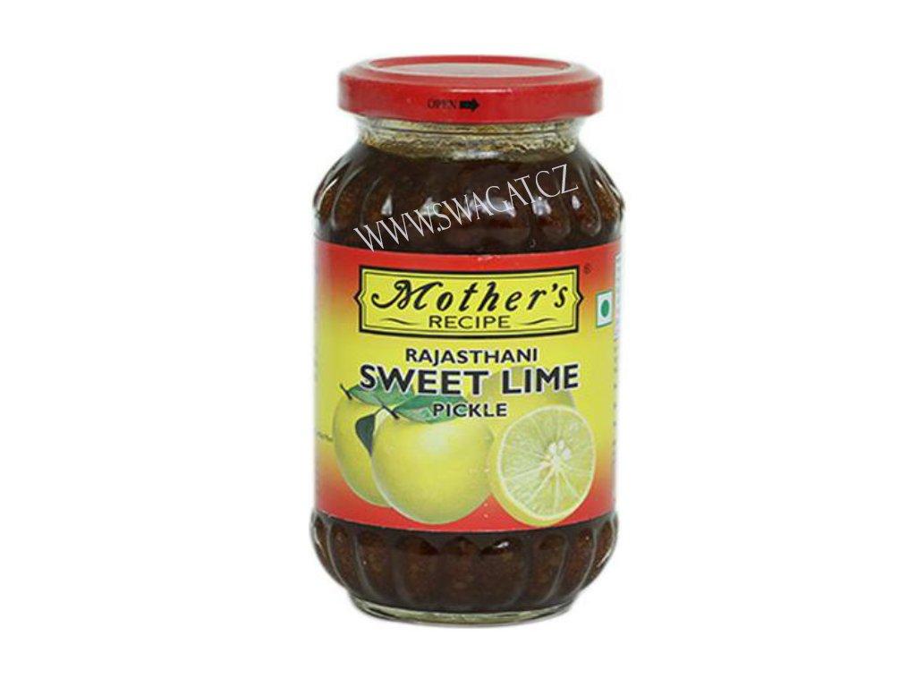 Rajasthanský  nakládaný sládký citron (Rajasthani Sweet Lime Pickle),  575g