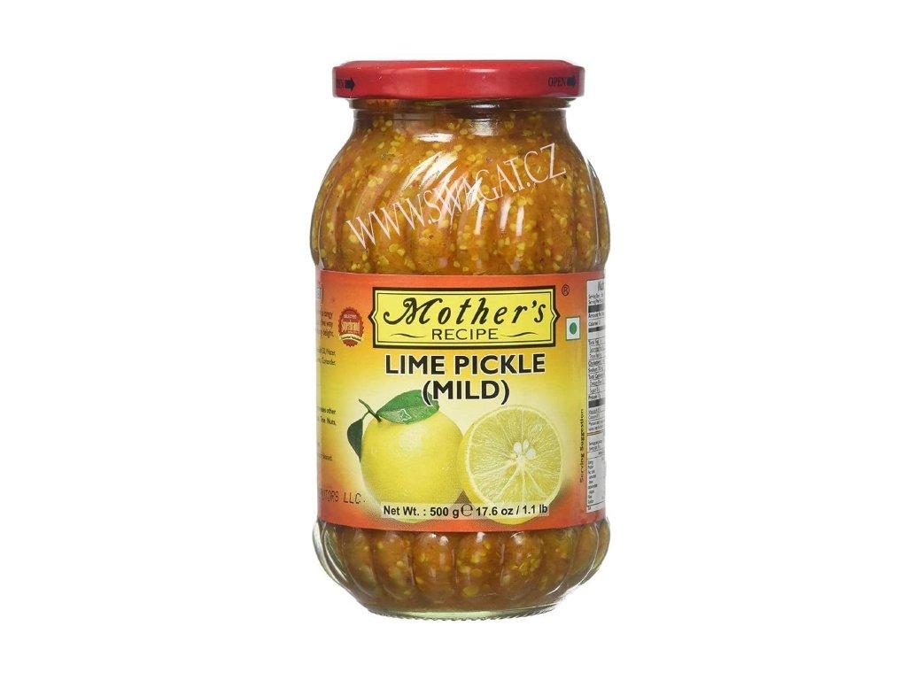 Nakládaný mírně pikantní citron (Lime Pickle Mild), Mother`s Recipe 500g
