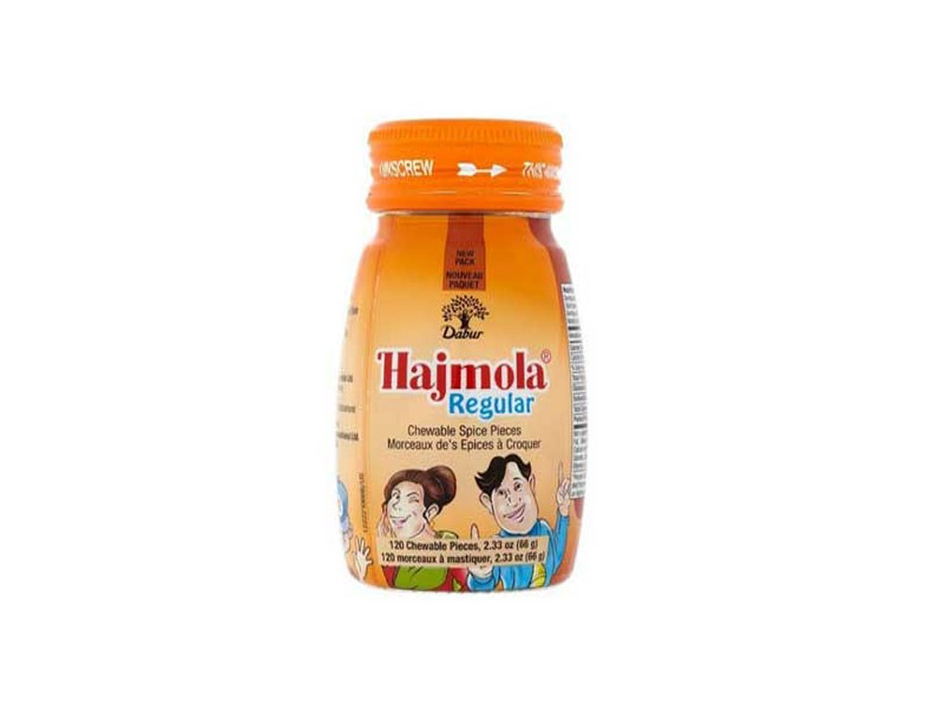 Hajmola Regular, DABUR 120 žvýkacích tablet