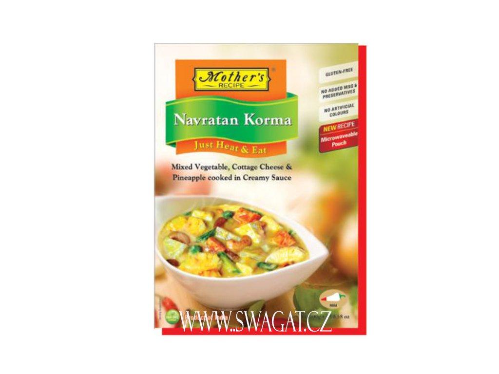 Hotové kari Navratan Korma (Ready Curry Navratan Korma), Mother`s Recipe 300g