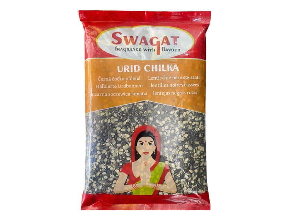 SWAGAT Urid Chilka - černá čočka půlená 2kg
