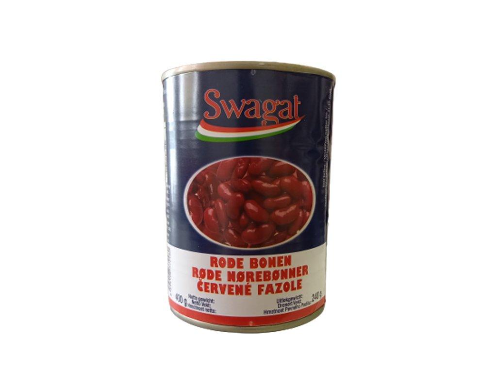 Konzervované červené fazole, SWAGAT 400g
