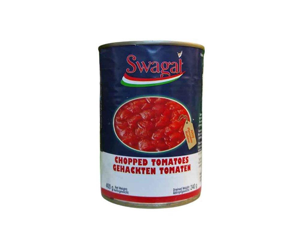 SWAGAT Krájená rajčata v tomatovém nálevu 400g