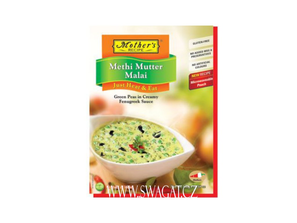 Hotové kari Methi Mutter Malai, 300g