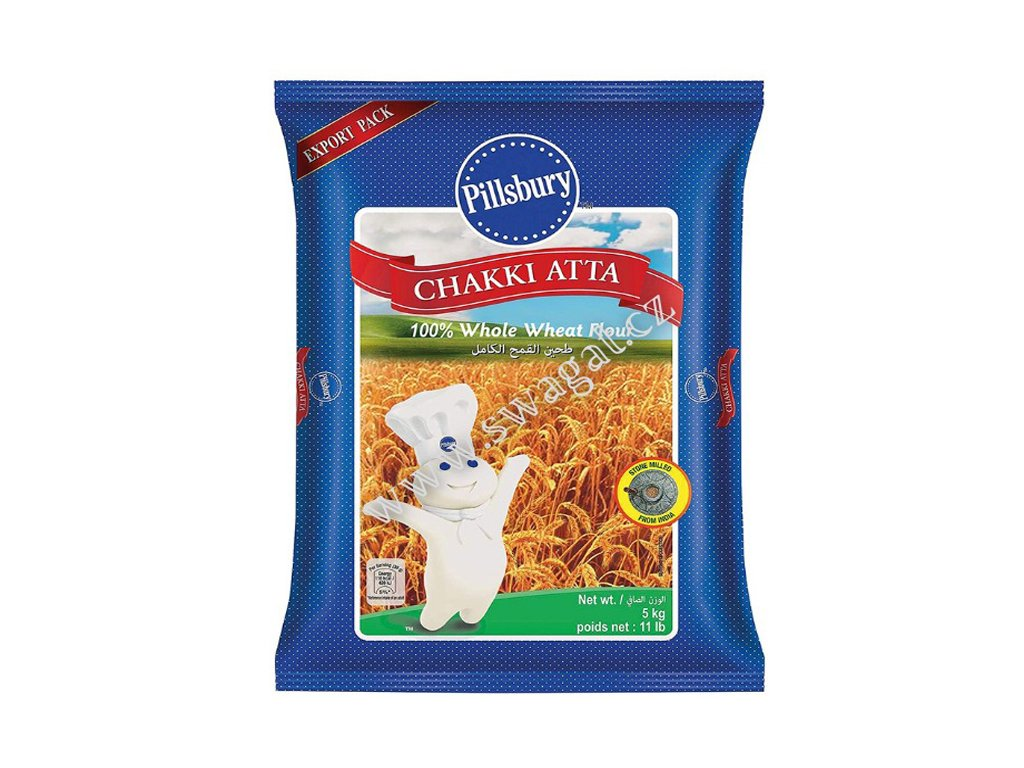 Atta-Celozrnná pšeničná mouka, PILLSBURY 5 Kg