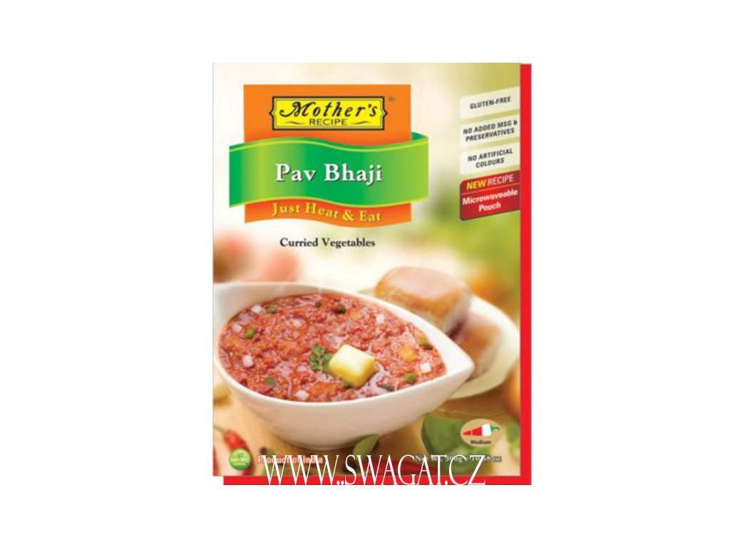 Hotové kari  Pav Bhaji (Ready Curry  Pav Bhaji), Mother`s Recipe 300g