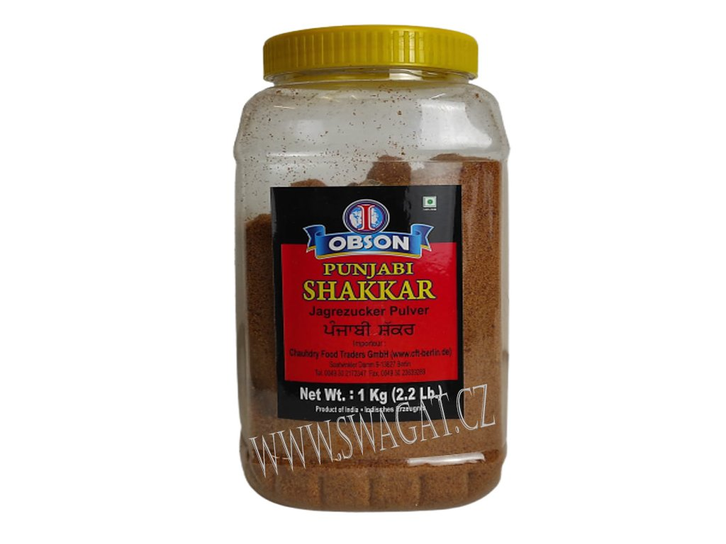 Punjabi Sakkar mletý třtinový cukr, OBSON 1Kg