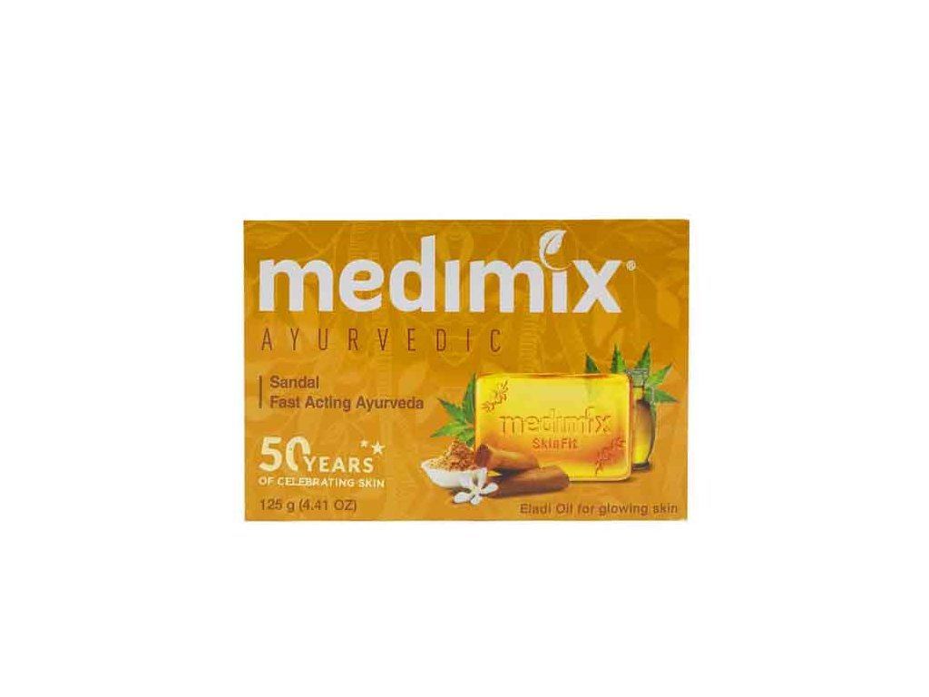Ručně vyráběné Ajurvédské santalové mýdlo MEDIMIX 125g