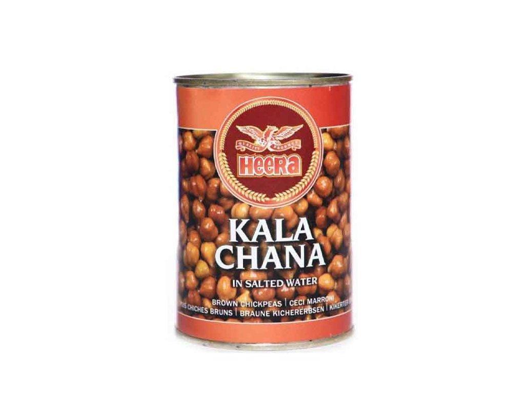 Kala Chana - konzervovaná hnědá cizrna ve slaném nálevu, HEERA 400g