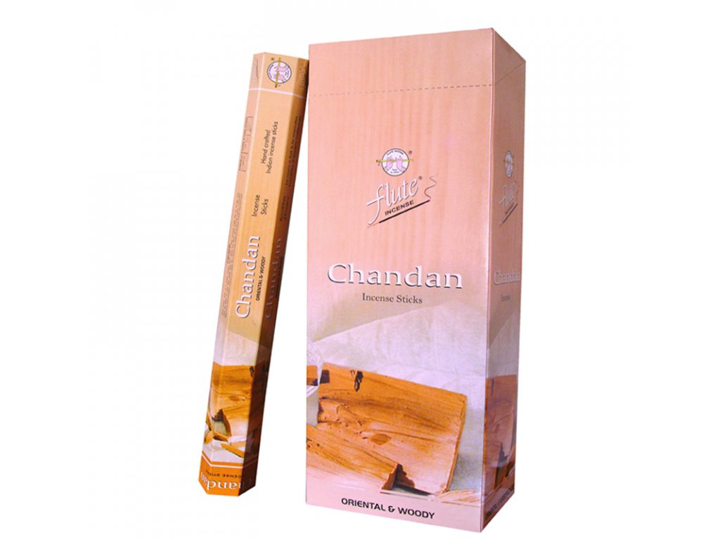 Chandan – santálové vonné tyčinky, FLUTE 20ks