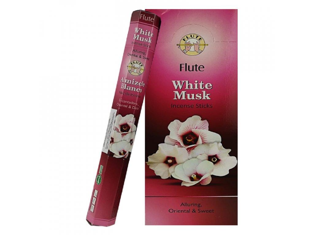Vonné tyčinky z bíleho pižma (White Musk), FLUTE 20ks