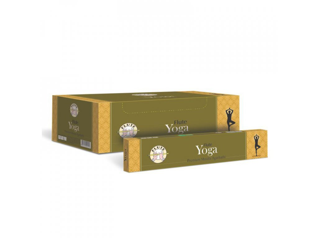Premium Masala Yoga vonné tyčinky , FLUTE 12ks