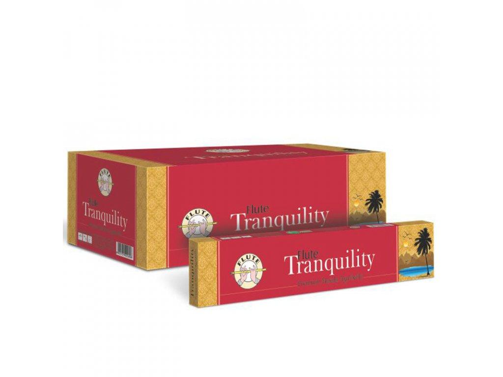 Premium Masala vonné tyčinky pro uklidnění Tranquility, FLUTE 12ks