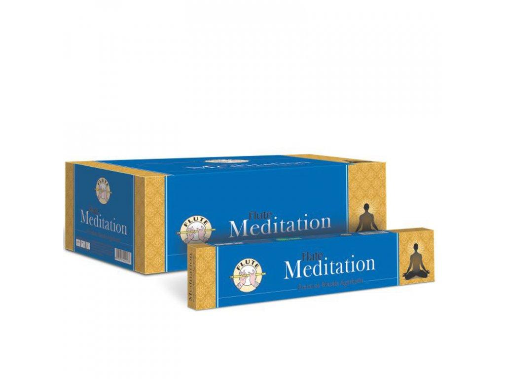 Premium Masala vonné tyčinky Meditace, FLUTE 12ks