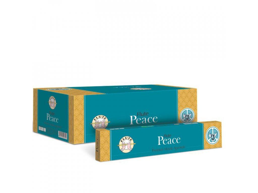 Premium Masala vonné tyčinky pro klid a pohodu Peace, FLUTE 12ks