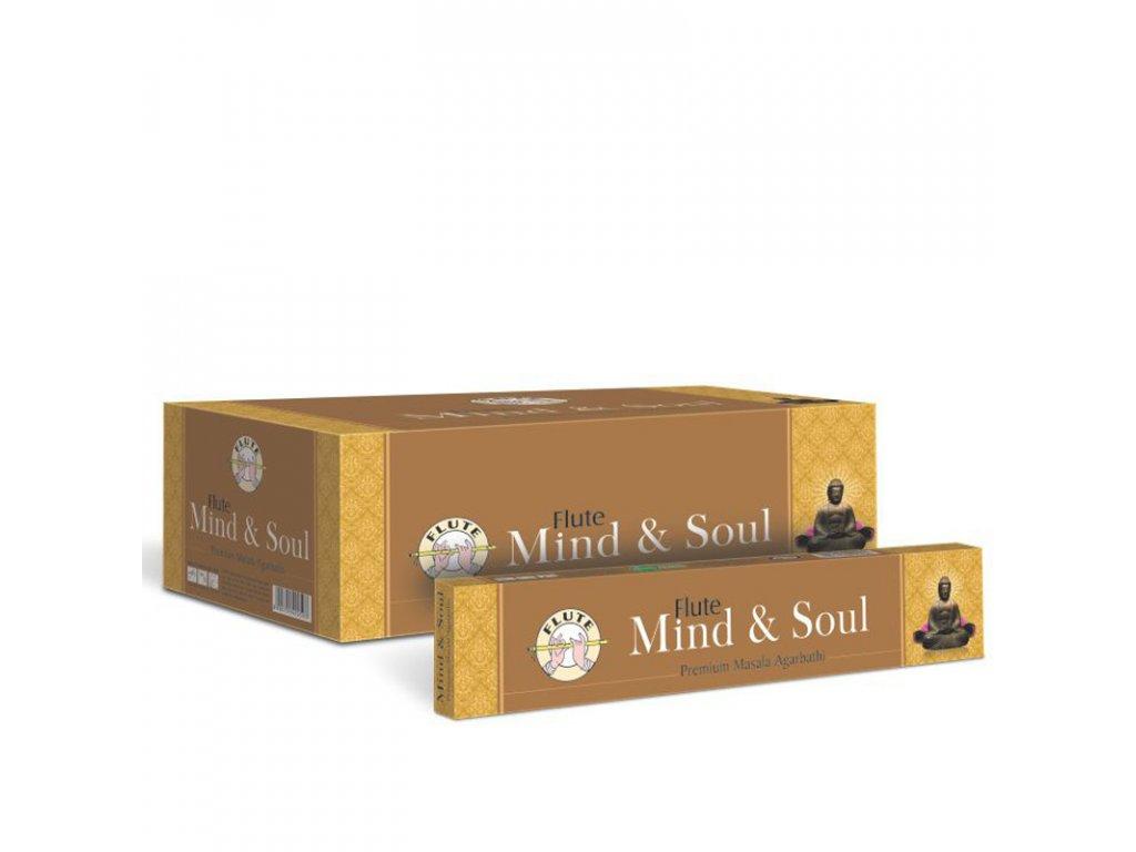 Premium Masala vonné tyčinky Mind & Soul, FLUTE 12ks