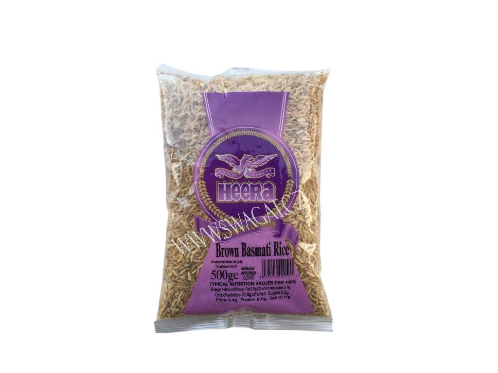 Hnědá Basmati rýže,  HEERA 500g