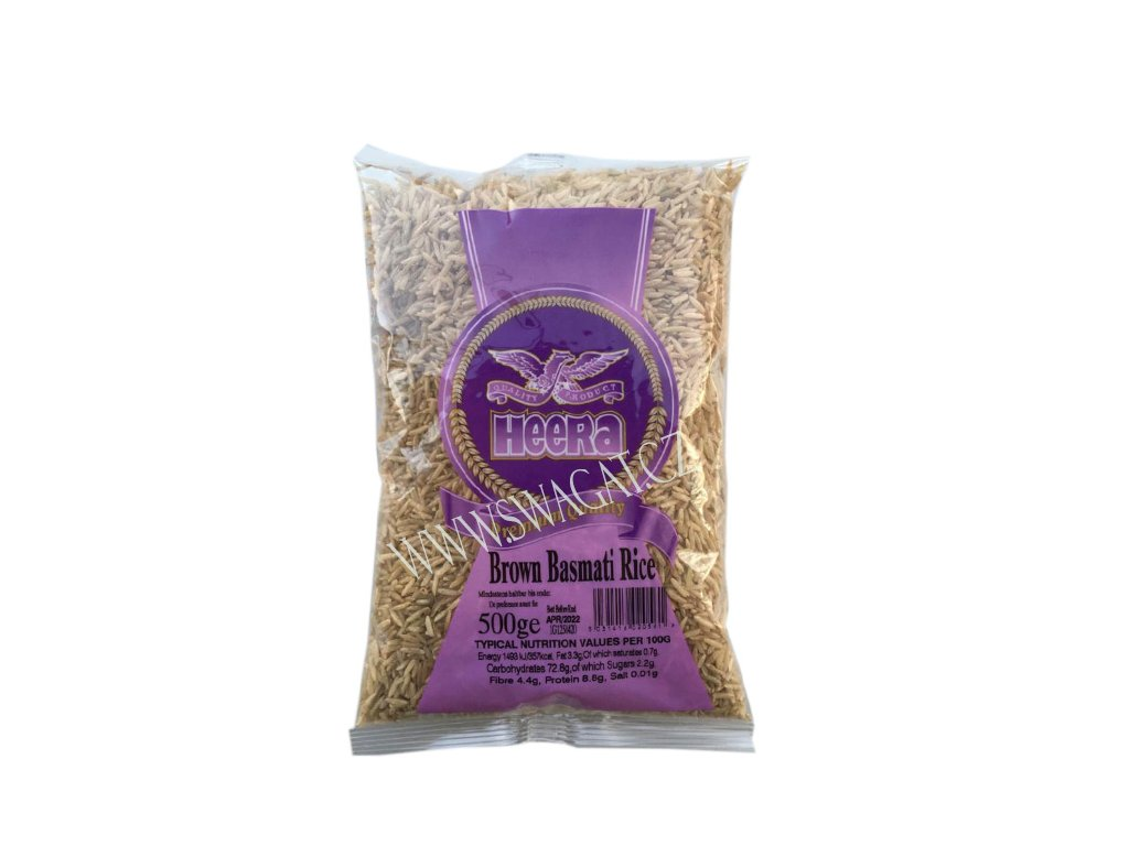 Hnědá rýže basmati (Brown Basmati Rice), HEERA 500g