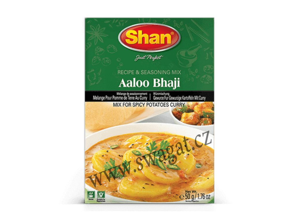 Koření na vegetariánské kari Aloo Bhaji, SHAN 50g
