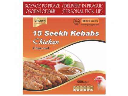 Kuřecí Seekh kebab, CROWN 900g (15ks)