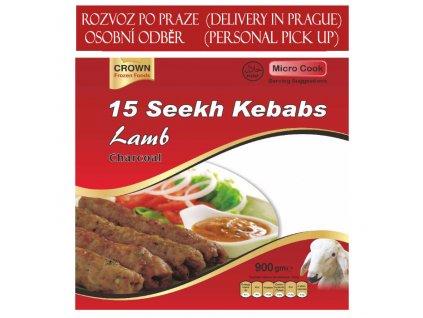 Jehněčí Seekh kebab (Lamb Charcoal Kebab), 900g (15ks)
