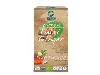 Bio Tulsi zazvorový čaj (Bio Tulsi Ginger Tea), OW 25 sačků