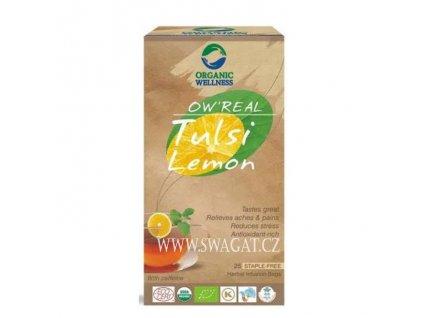 Zelený Bio čaj Tulsi Lemon (Green Bio Tulsi Tea Lemon), OW 25 sačků