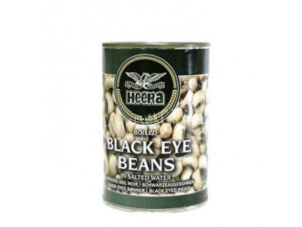 Černá fazole ve sláném nálevu (Black Eye Beans In Tin),Heera 400g